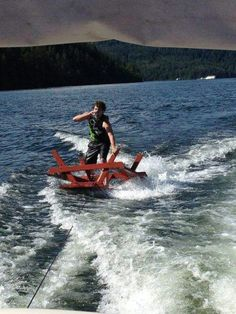 Red neck water skiing