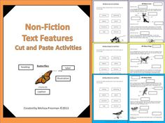 A great hands-on way to help students identify the text features in non-fiction passages.