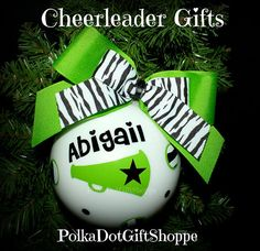Cheerleader Gifts, Cheer Gifts, Competition Cheerleading Cheer Christmas Ornament Team Ornament by PolkaDotGiftShoppe, $21.99