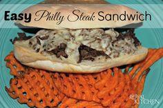 Easy Philly Steak Sandwich #recipe #steak #sandwich