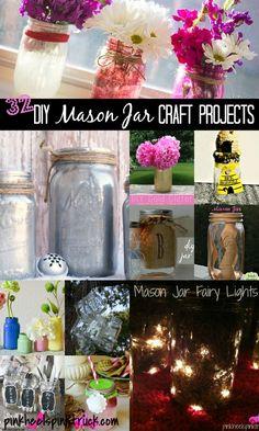 32 DIY Mason Jar Craft Projects #diy #crafts #masonjars
