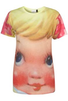 topshop x meadham kirchhoff dolly face tee