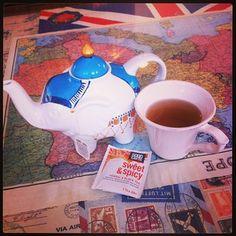 #goodearthtea Sweet & Spicy and a cute elephant mug! from @kayla1keenan