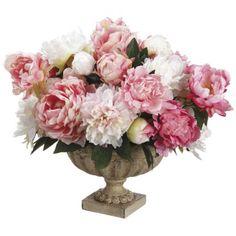 Peony/ Peony Bud Silk Flower Arrangment ARWF1183