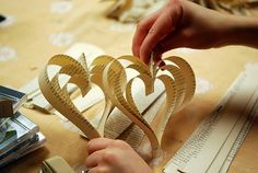 book page heart garland