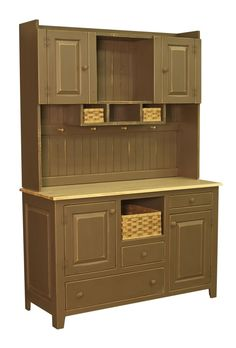 Best Amish Country Kitchen Hutch Farm House Pantry Cupboard 640 x 480