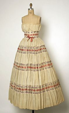 Christian Dior Dress Spring/Summer 1956.