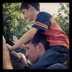Uncle and Nephew ( repinned from my sister, which makes this my son and brother in law :) )