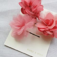 flower clip craft, coral, hair clips, candies, beauti, flower clips, flowers, flower girls, flower hair