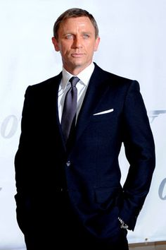 Daniel Craig in a midnight blue suit. What more needs to be said?