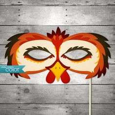 DIY Printable Rooster Mask