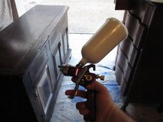 Paint Sprayer - (works with Annie Sloan Paints) this gem on Harbor Freights website for $14.99! Granted, I held my breath when trying it – doubting the performance of something so cheap – but this gun rocks!