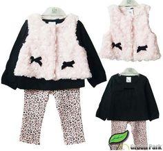 2014 Spring Kids Baby Girl's Princess Clothing Set, Four Colors 3pcs New born Baby Girl Clothes Set Outwear/Vest+T-shirt+Pants