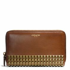 The Legacy Continental Zip Wallet in Studded Leather from Coach