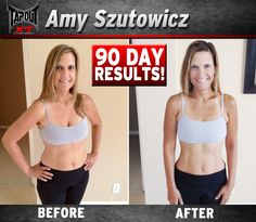 90 day results with TapouT XT Amy's body transformation