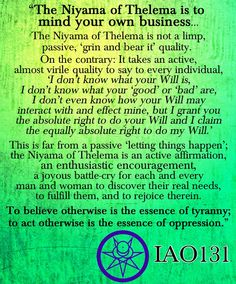 #Thelema