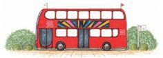 "Course designer Bob Ellis' ""London Bus"" jump | Illustration Christine Bousfield"