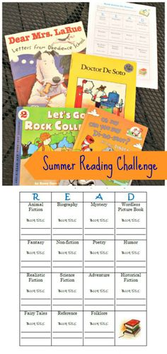Challenge the kids to read a variety of books this summer with this FREE printable reading chart! Works with kids of all reading levels