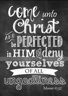 Come Unto Christ  Chalk Art- 2014 Mutual Theme Printable 5x7