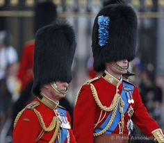 Prince Philip and Prince William Trooping of the Guard 2014