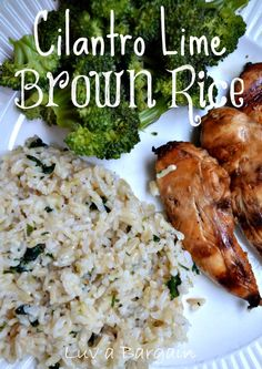 Cilantro Lime Brown Rice - Wonderful addition to a clean dinner! LuvaBargain.com