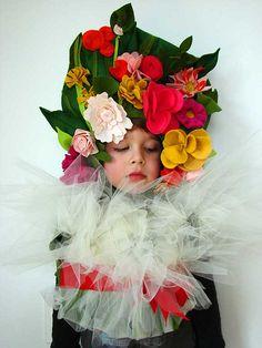 disfraz de ramo de flores