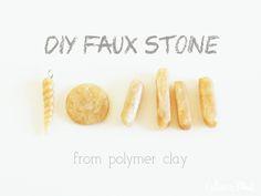 #DIY #polymer_caly faux stone #tutorial