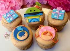 Team Umizoomi Cupcakes made by 350 Classic Bakeshop in Rye, NY #cupcakes #Umizoomi