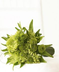 Lovely green wedding bouquet