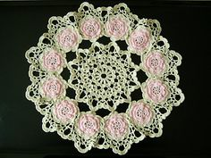 libraries, patterns, crochet doili, crochet project, rose pattern