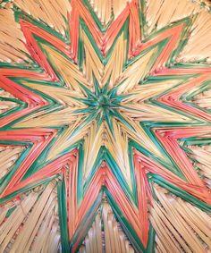 Rare Hand Woven Sweetgrass Starburst Basket. $37.00, via Etsy.
