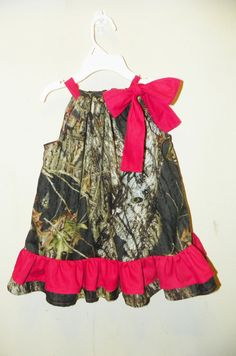 Camo Baby Girl Clothes | ... double ruffle red baby girl 0 3 6 9 12 18 months pillowcase dress camo