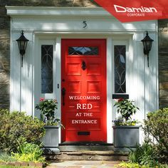 Now give a distinct identity to the entrance of your #home with a stylish #red door. #coloursofnavratri