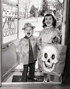 That kid…priceless!    Halloween 1956