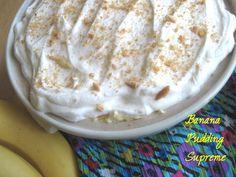 low sugar, banana pudding, free option, puddings, bananas