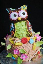 cupcak, idea, food, cake decorations, plush cake, first birthdays, owl cakes, owls, birthday cakes