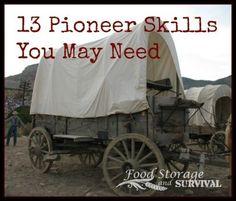 13 pioneer skills you may need! Food Storage and Survival