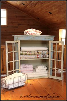 DIY:  Quilt Cabinet Makeover - basic tutorial lists the ASCP colors used + steps taken to get this awesome finish!
