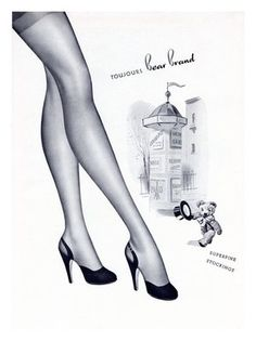 vintage stocking ads | via jessica cangiano