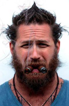 Tom Hardy celebrity beard, beards, hardi cigar, peopl, cigars, men, tom hardi, man, tom hardy