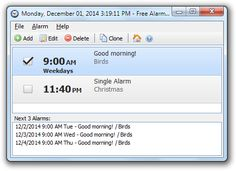 Alarm clocks are a standard feature on most cell phones, but computer clocks typically don't do much but display the time