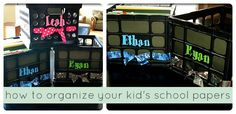 How to organize your kid's school papers- best idea ever! #organization #backtoschool