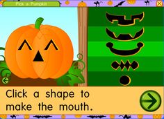 Pick a Pumpkin on Starfall  Pick a Pumpkin on Starfall A free website to teach children to read. Perfect for kindergarten, first grade, and second grade. Contains exciting interactive books and phonics games.