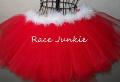 Mrs Claus tutu 9  inch tutu Perfect for the Holiday by RaceJunkie, $34.95