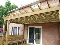 pergola with canopy...