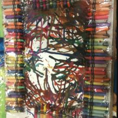 100 melted crayons for 100th day of school.  A little messy, but a great idea.