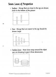 Perspective in art handout