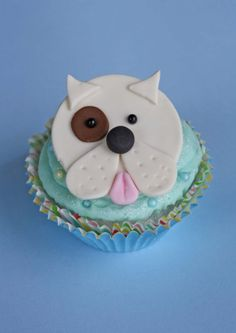 Dog Fondant Cupcake Toppers by Clementinescupcakes on Etsy, $22.95