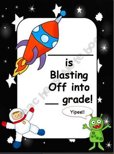 End of the year Blast Off Certificate