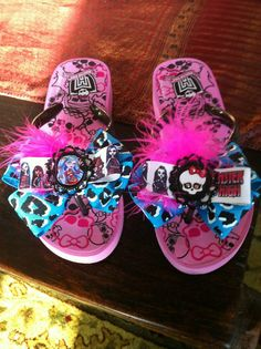 Monster High flip flops
